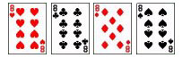 4 eight cards